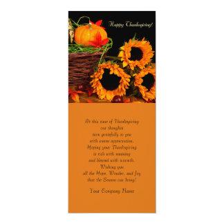 Pumpkins & Sunflowers Thanksgiving Greeting Cards
