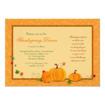 Pumpkins Thanksgiving Dinner Party Invitation