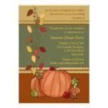 Pumpkins Three Invitation