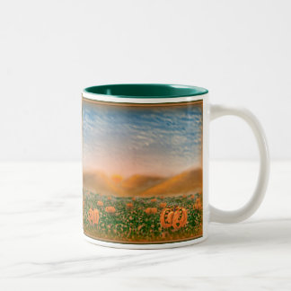 Pumpkins & Vines Two-Tone Coffee Mug