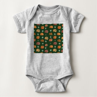 Pumpkins with Leaves Baby Jersey Bodysuit