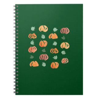 Pumpkins with Leaves Spiral Notebook