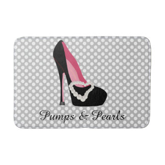 Pumps and Pearls Bath Mat