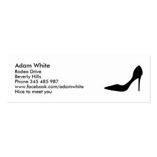 Pumps shoe business cards