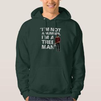 "Pun: ""I´m not a number, I´m a tree man"" Hoodie"