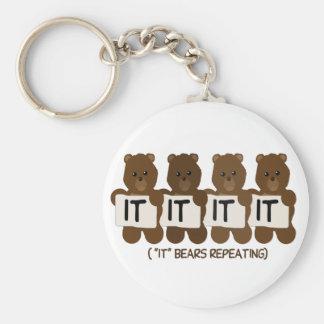 Pun: It Bears Repeating Keychain
