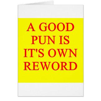 pun on puns greeting card