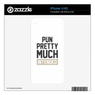 Pun Pretty Much Intended Skin For The iPhone 4S