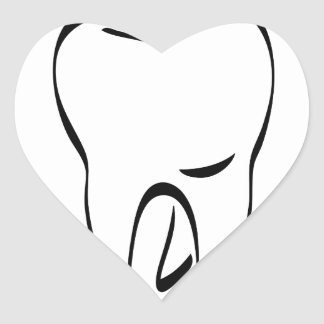 pun tooth heart sticker