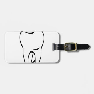 pun tooth luggage tag