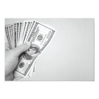 """Puñado de dinero invitación 3.5"""" x 5"""""""