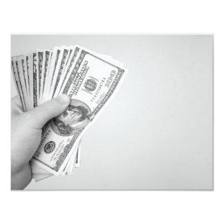 """Puñado de dinero invitación 4.25"""" x 5.5"""""""