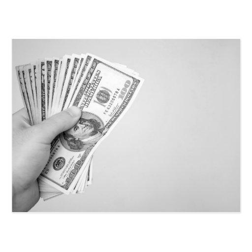 Puñado de dinero postal