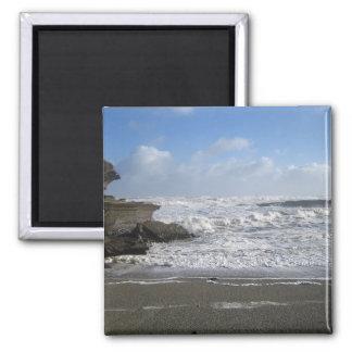 Punakaiki Beach 2 Inch Square Magnet