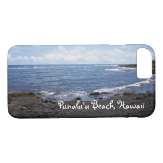 Punalu'u Black Sand Beach Hawaii iPhone 7 Case