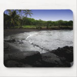 Punalu'u, playa negra de la arena, mousepad de Haw Tapete De Raton