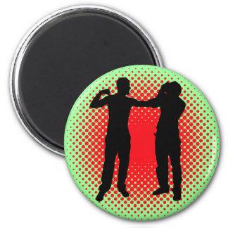 Punch. 2 Inch Round Magnet