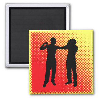 Punch. 2 Inch Square Magnet