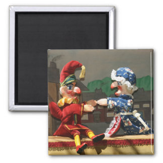 Punch and Judy 2 Inch Square Magnet