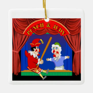 Punch and Judy Ceramic Ornament