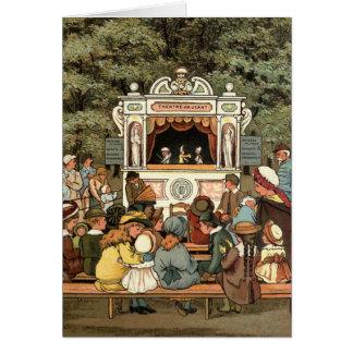 """""""Punch and Judy Puppet Show"""" Greeting Card"""