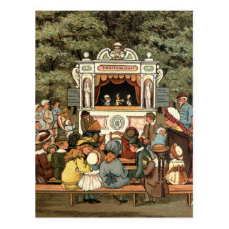 """Punch and Judy Puppet Show"""" Postcard"""