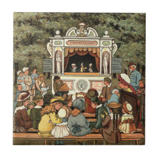 """Punch and Judy Puppet Show"""" Tile"""