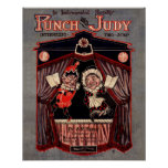 Punch and Judy Puppets Remastered Illustration Poster