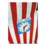 Punch and Judy tent and clock 13 Cm X 18 Cm Invitation Card