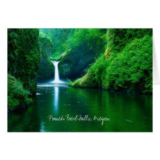 Punch Bowl Falls, Columbia River Gorge NRA, Oregon Card