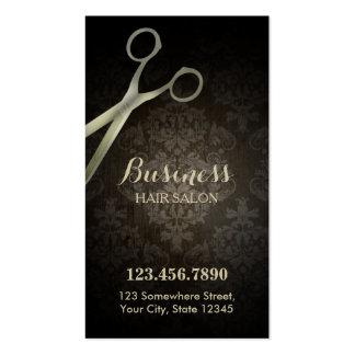 Punch Card   Anitique Scissor Damask Hair Salon Business Card