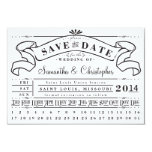 "Punch Card Vintage Ticket Banner Save the Date 3.5"" X 5"" Invitation Card"