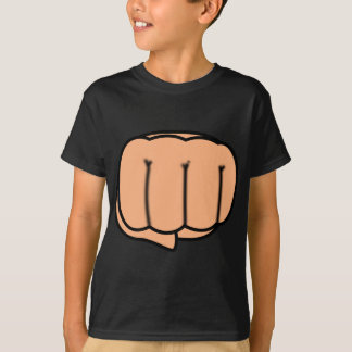 Punch. Cartoon Fist T-Shirt