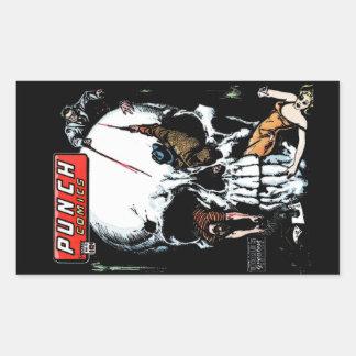 Punch Comics #12 Cover Art Rectangular Sticker