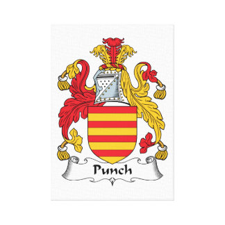 Punch Family Crest Stretched Canvas Print
