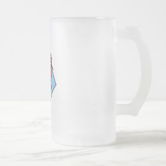 Punch Frosted Glass Beer Mug