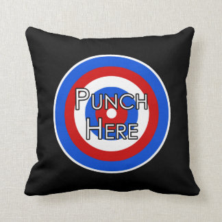 """""""Punch Here"""" Pillow"""