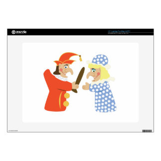 "Punch & Judy Decals For 15"" Laptops"