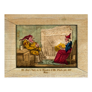 Punch & Judy Picture Plate I Postcard