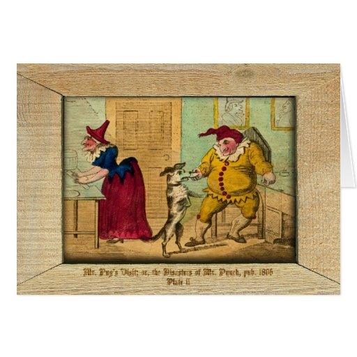Punch & Judy Picture Plate II Greeting Card