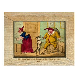 Punch & Judy Picture Plate II Postcard