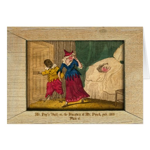 Punch & Judy Picture Plate VI Card