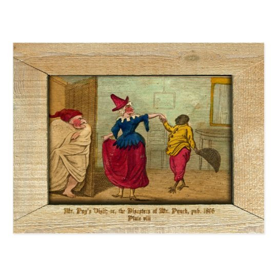 Punch & Judy Picture Plate VIII Postcard