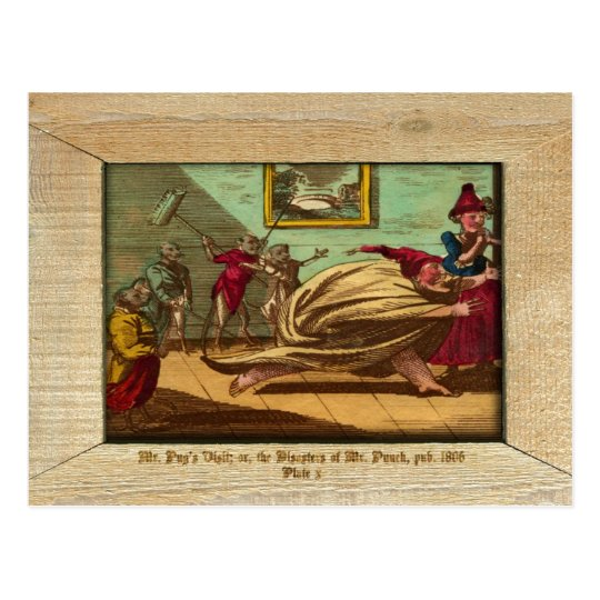 Punch & Judy Picture Plate X Postcard