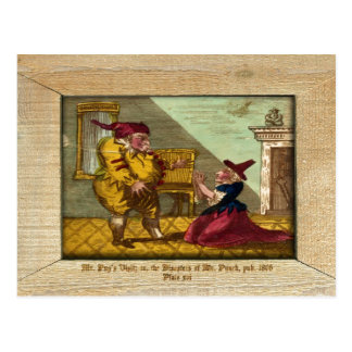 Punch & Judy Picture Plate XVI Postcard