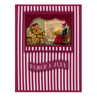 Punch & Judy Picture Scene II Postcard