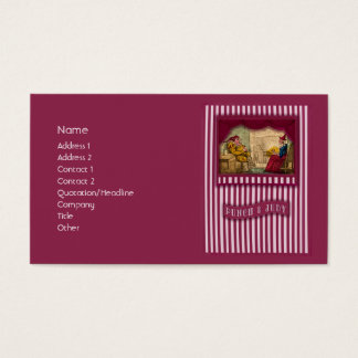 Punch & Judy Scene I Business Card