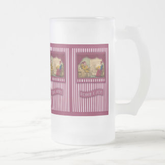Punch & Judy Scene I Frosted Glass Beer Mug