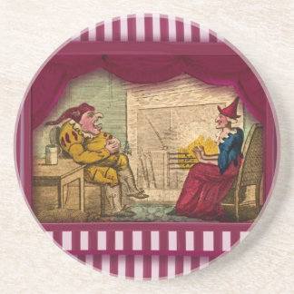 Punch & Judy Scene I Sandstone Coaster