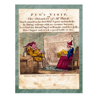 Punch & Judy Story Plate I Postcard